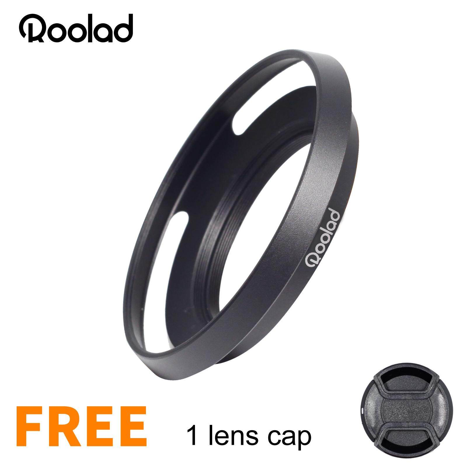 39mm Roolad Metal Lens Hood For Dslr And Mirrorless Camera Leica M50/2 28/28 Fuji27/2.8 Vm 21mm F3.5 Asph Voigtlander Vm 35mm F2 Ultron Or  ⌀ 39 Filter  Protect Accessory With Lens Cap Black Silver.