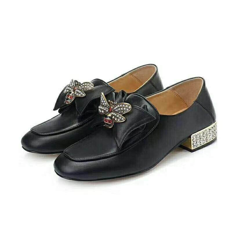 3265157c8 Gucci Gucci ladies shoes flat rivet pearl casual loafers can step on the  foot of small