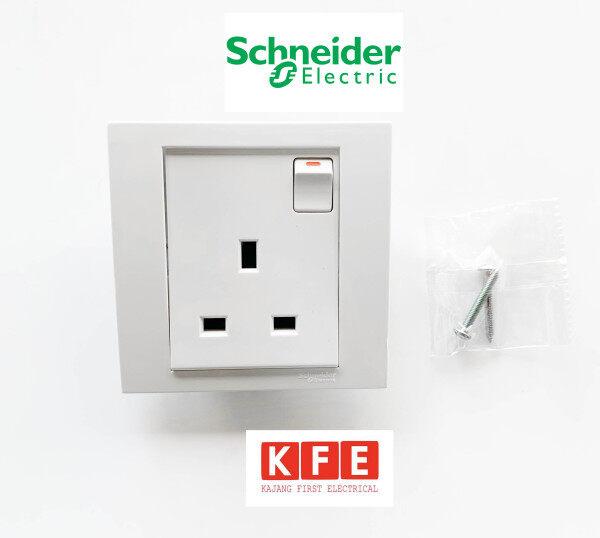 Schneider Vivace KB15 13A Switch Socket Outlet White