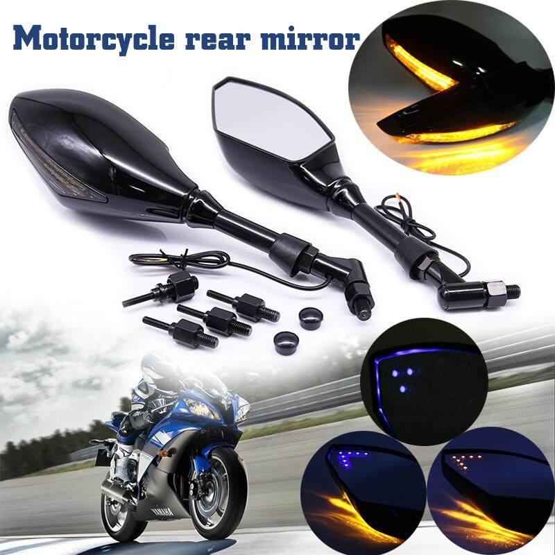 Universal Motorcycle Handle Bar End Rearview Side Mirrors Dirt Bike ATV Chopper