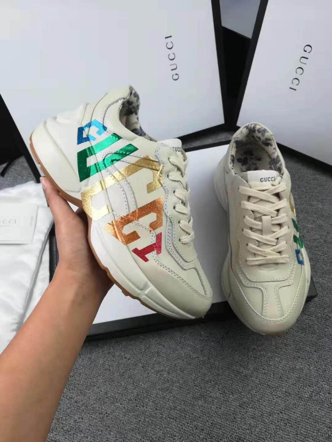 3217b060d71 Gucci shoes Gucci shoes G rainbow letters women s shoes small bee shoes  men s shoes do old