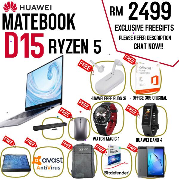 Huawei Matebook D15 Ryzen 5 2019 - 100% Original Huawei Malaysia Warranty Malaysia
