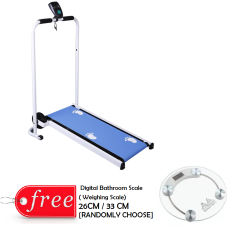 Mini And Foldable Treadmill Design A (blue) With Free 1x Weighing Scale [ Randomly Choose] By Casa Muebles.