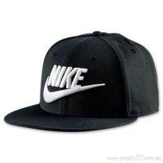 info for d4f11 3994f Nike Graphic Futura True 2 Snapback Hat 100% wool Black White