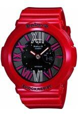 (OFFICIAL WARRANTY) Casio Baby-G BGA-160-4B Standard Digital/Analog Womens Resin Watch (Black & Red) Malaysia