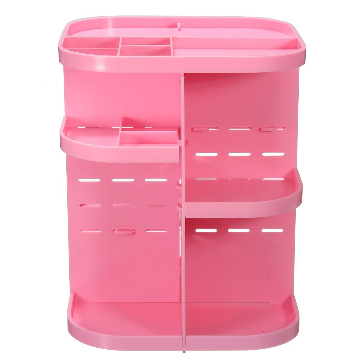 Promo Pink 360° Rotating Makeup Organizer Case Drawers Cosmetic Jewelry Storage Cabinet Box Export Intl
