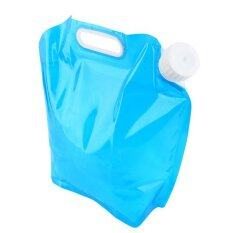 Portable 5l/180oz Collapsible Outdoor Water Storage Bag Container Carrier Light Weight Hand Lifting Hiking Drinking Water Bag(blue) By Scotty Dream Paradise.