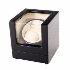 Premium Auto Watch Winder Automatic Rotate Watch Box 2+0 Black White Malaysia