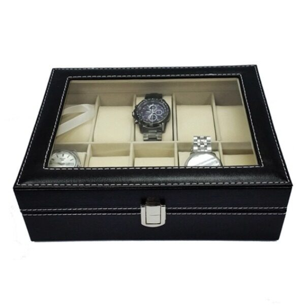 10 Slot Elegant Premium PU Leather Watch Display Box For Collection Malaysia