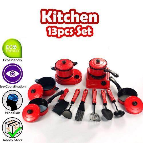 Realeos 13 PCS Kids Kitchen Playset Educational Toy - R348