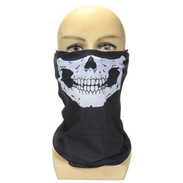 Hình ảnh Skull Face Cool Mask Call of Duty Ghost Balaclava Skateboard Outdoor Bike Cosplay (Black) - intl