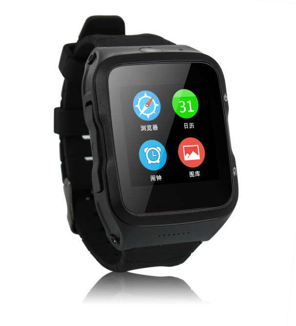 Solmed SL-83 3G Android Smart Watch Black with Black Side Cover - intl