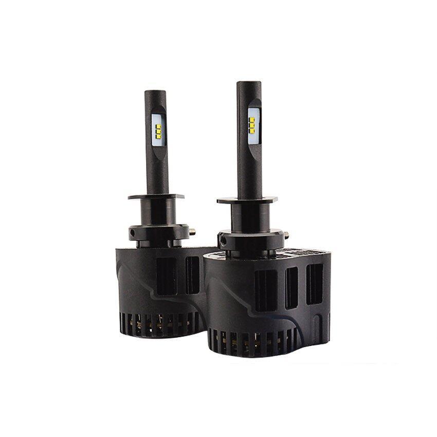 Super Cerah All-In-One Tanpa Kipas 6400LM H1 5000 K Halogen Replacementled Bohlam Lampu Besar Mobil Kabut Kit Konversi Lampu Mobil