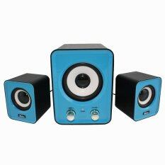 Tastech BF-100 3d sound Technology 2.1 USB port Multimedia Speaker (Blue) Malaysia