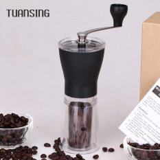 Tuansing Manual Ceramic Coffee Grinder Washable ABS Ceramic Core Stainless Steel Home Kitchen Mini Manual Hand Coffee Grinder