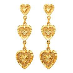 U7 Romantic Heart Drop Earrings For Women 18k Real Gold Plated Fashion Heart Jewelry Perfect Gift (gold) By U7 Jewelry.