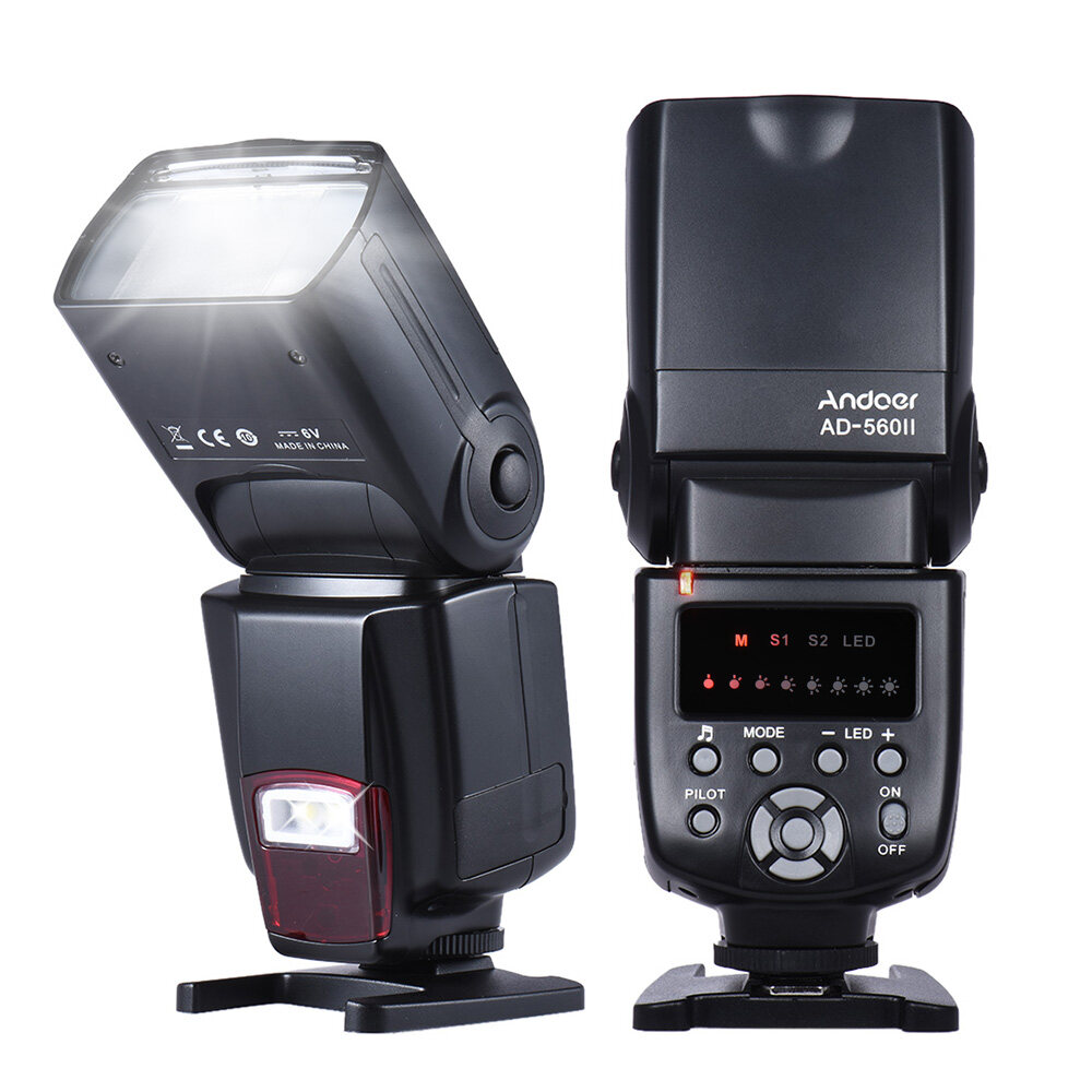 Universal Flash Speedlite On-Camera Flash Gn50 W/ Adjustable Led Fill Light For Canon Nikon Olympus Pentax Dslr Cameras - Intl By Tomtop