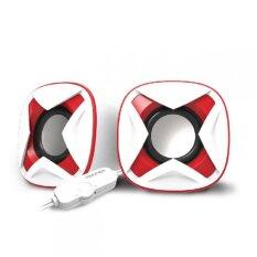 VINNFIER Icon 303 USB Portable Speaker (White Red) Malaysia