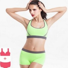 6a026bb130 Women Seamless Sports Bra Set Push Up Padded Running Bras Thin Tank Vest  Tops Sexy Underwear