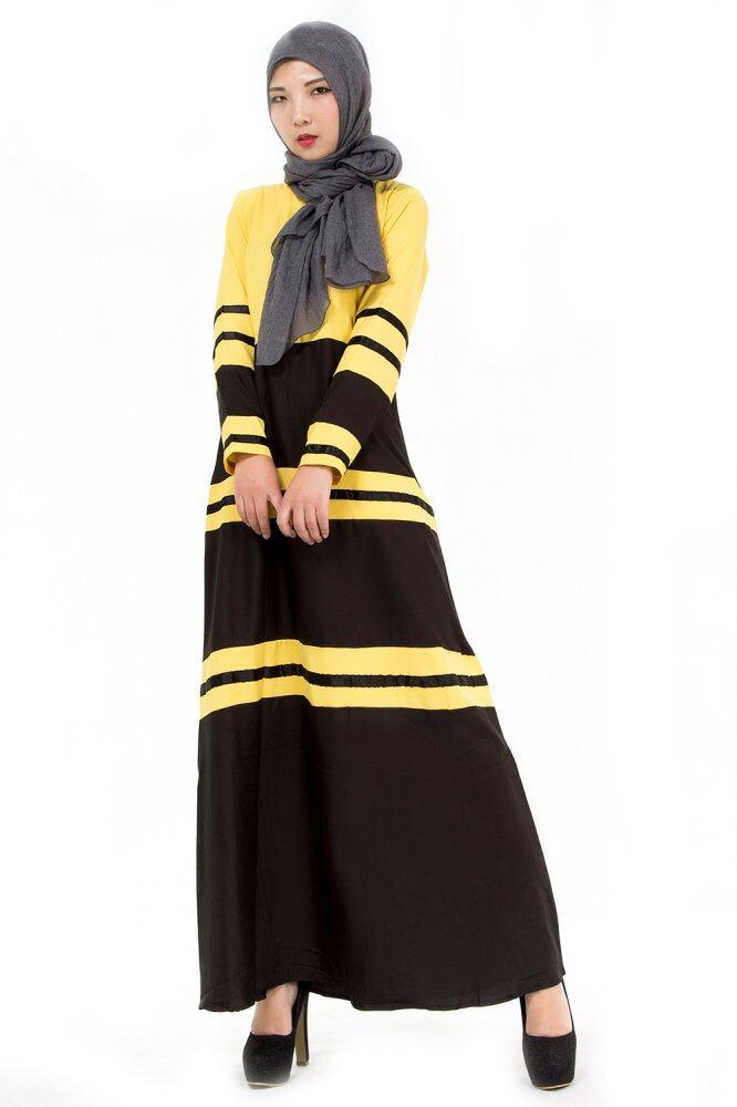 womens-color-washlight-long-sleeve-muslim-long-dress-yellow-2615-65962201-810ed76f27fd196770ff7ff82d5064ea Koleksi Daftar Harga Dress Muslim Warna Kuning Teranyar bulan ini