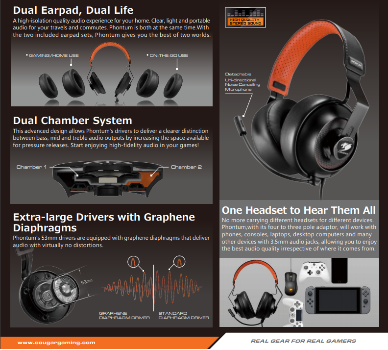 8bf215de6d3 Product details of Cougar PHONTUM Universal Gaming Headset