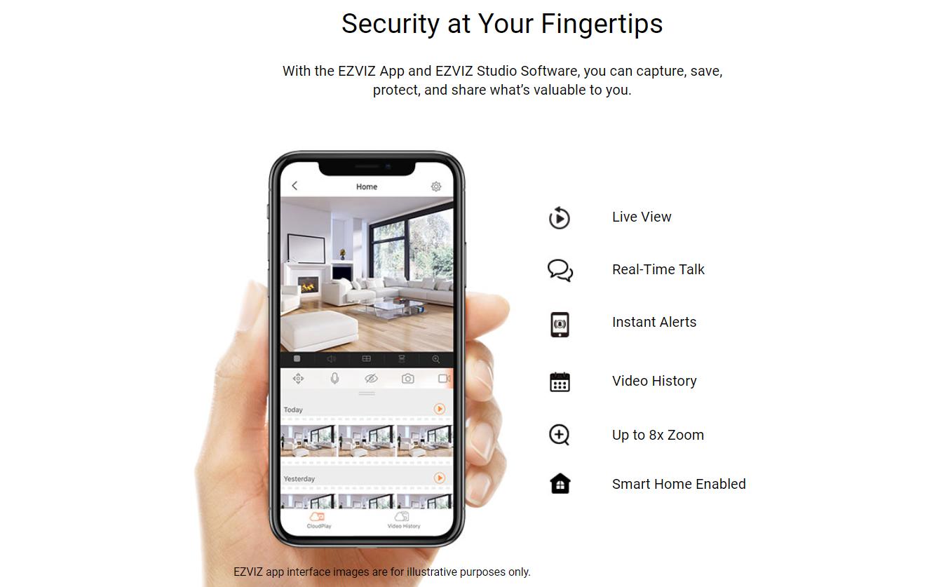 EZVIZ C1C 720p HD Home Indoor Wi-Fi CCTV IP Security Camera