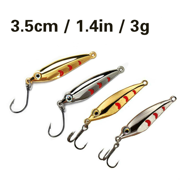 Fishing Lure Silver Fishing Spoon Lures Sequins Spinner Metal Hard Bait Tackle