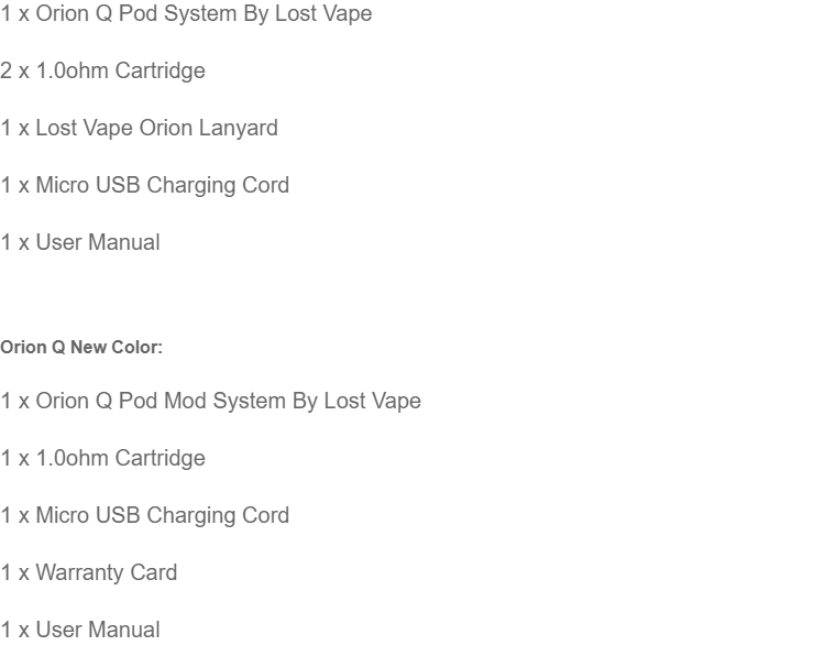 Original Lost Vape Orion Quest Pod Mod System 17W Rechargeable Battery  Multiple Color & New Color Available Orion Q Lostvape