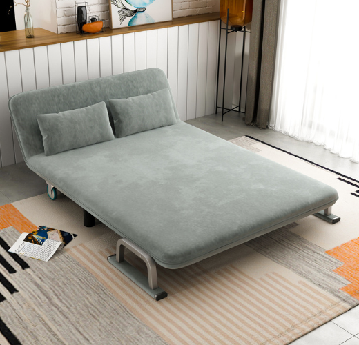 100x190cm Grey Double Seat 2 Seater Durable Sofa Furniture Perabot Living Room Sofas Bed Mattress Transform Room Bedroom Relax Stylish Cheap