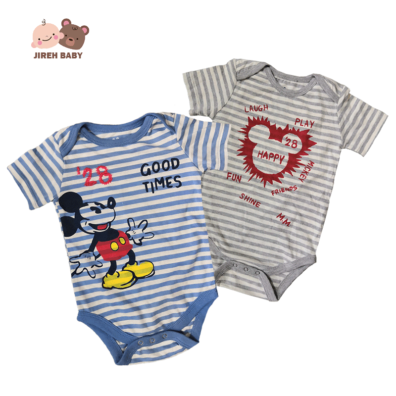 4f150e847b5f3 Disney Mickey Minnie Baby Romper Baby boy Baby Girls 100% cotton