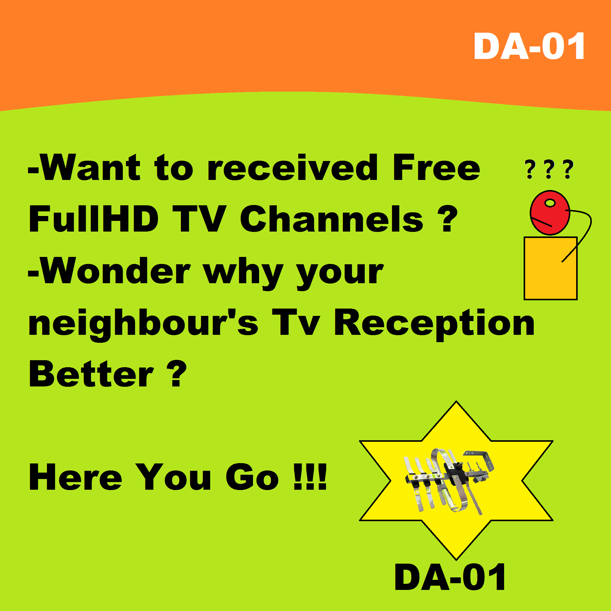 New! 2019 Version HDTV DTV DTT Myfreeview MYTV UHF Malaysia Digital Antenna  ( DA-01 / Jp-5e ) ( Strong , High Gains ) - Myelectricalshop