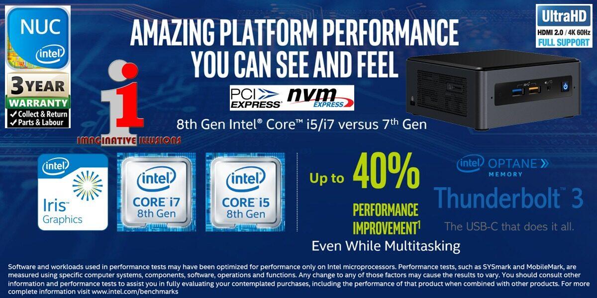 Intel NUC8i7BEH Kit Core i7 2 7GHz~4 5GHz Quad-Core DIY Mini PC / Intel NUC  (Barebone)