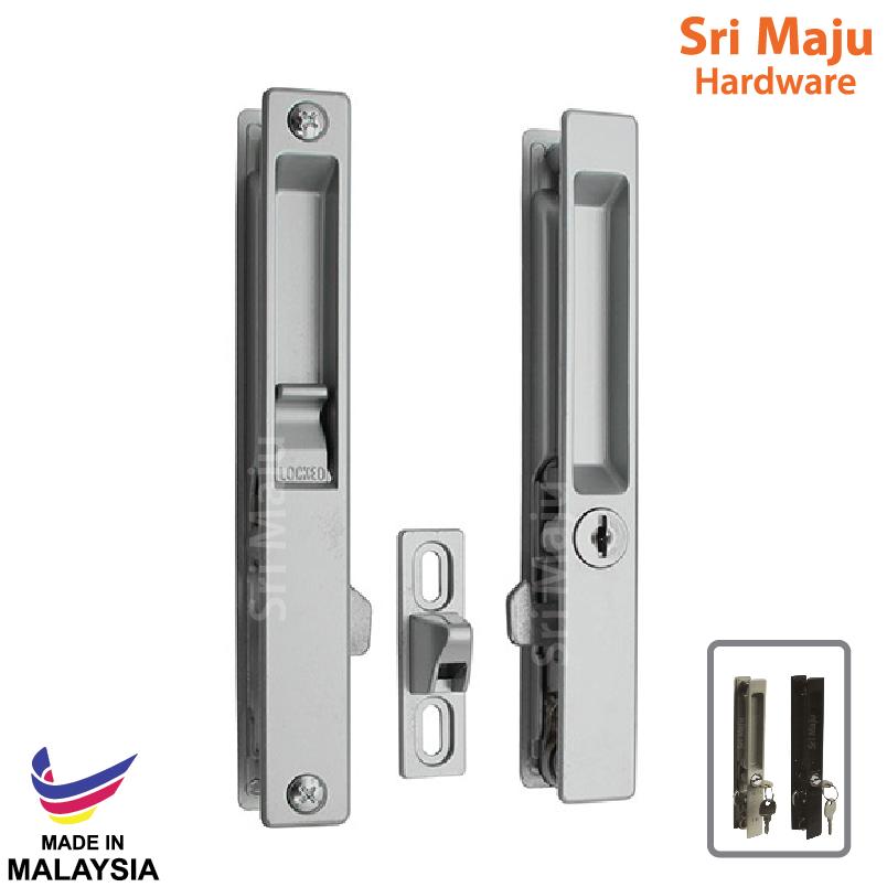 Sliding Door Handle >> Maju Fuda A6 Slide Door Handle Lock Silver Brown 25mm 32mm Sliding Door Hook Lock