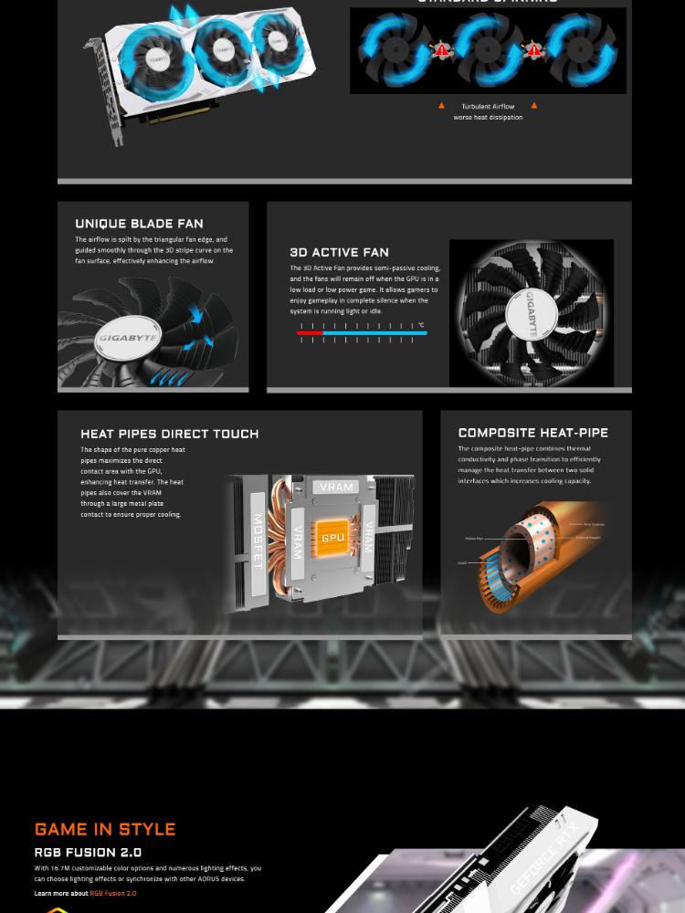 # GIGABYTE GeForce® RTX 2070 SUPER™ GAMING OC WHITE 8G # GV-N207SGAMINGOC  WHITE-8GC