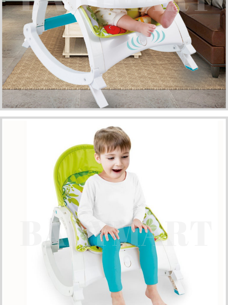 2 In 1 Toddler Portable Rocker Chair, Baby Dinner Chair