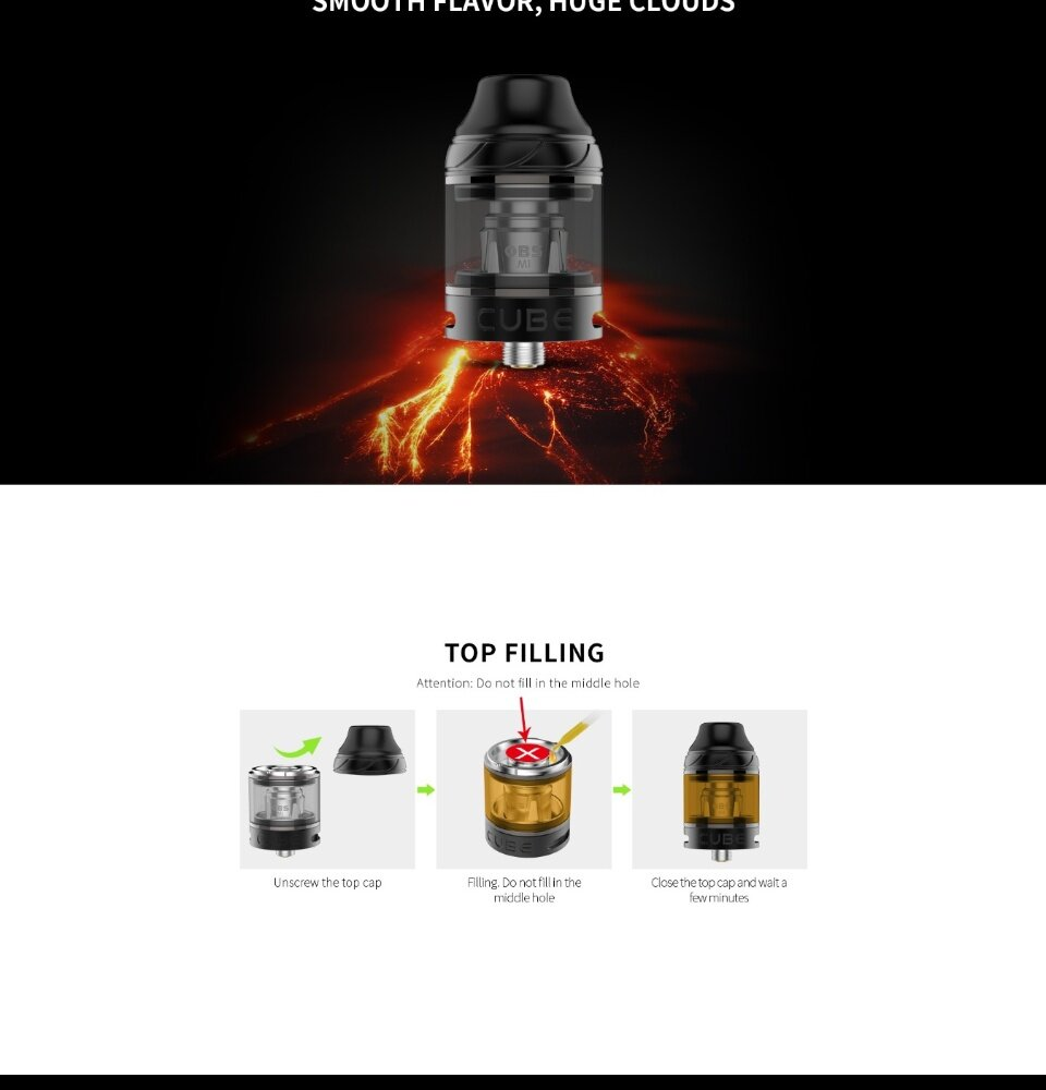 Authentic OBS Cube VW Starter Kit 3000mAh Battery (OBS Cube Mesh Tank 4ml)  [Pre-Order][Ship in 3-5day]