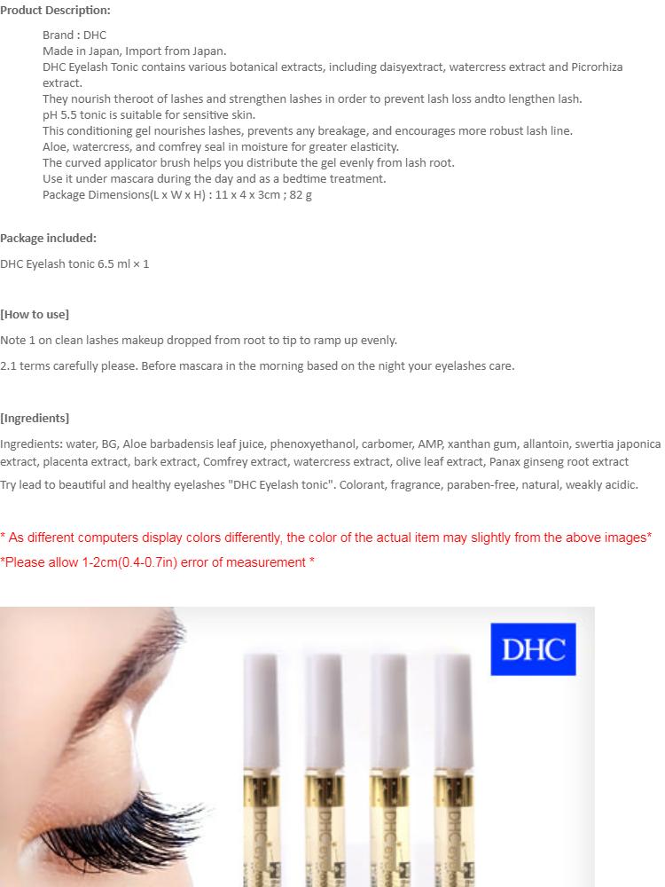 4e1ca447b9e DHC Eyelash Tonic Long Lash Growth Conditioner Treatment Skincare Japan  6.5ml Direct import from Japan   Lazada