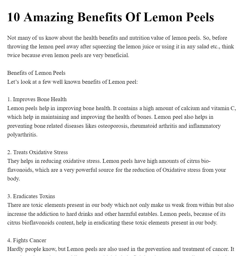 Lemon Peel Powder- Citrus Lemon - 100% Pure & Natural