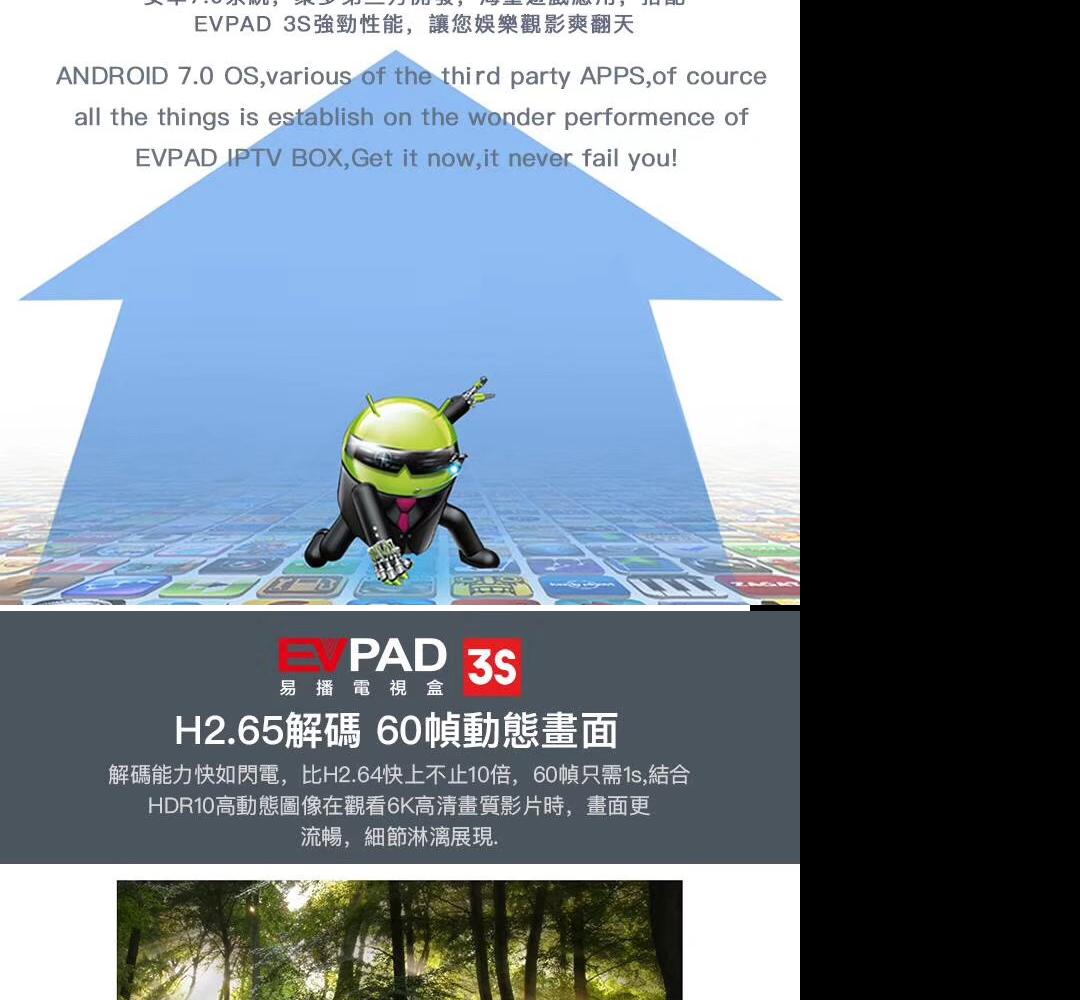 EVPAD 3s Tv Box 2GB RAM + 8GB ROM | New PGMall