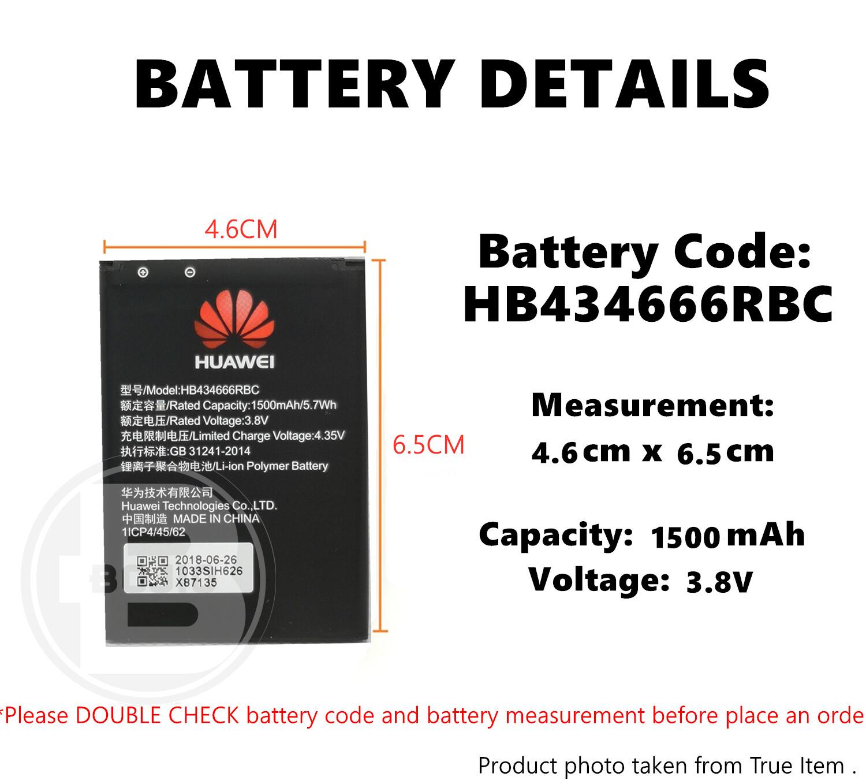 【Imported Original】Huawei MiFi E5s E5573 E5573S E5577HB434666RBC battery  wifi modem