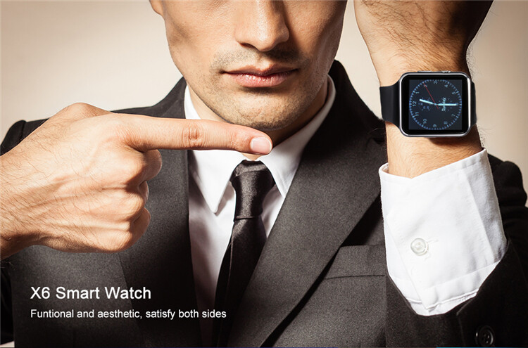 Eseed X6 Curved Screen Smart Phone Watch, Support Bluetooth 3 0 And SIM  Card Dual Mode, Remote Camera, Sleep Monitoring And Other Multi-function