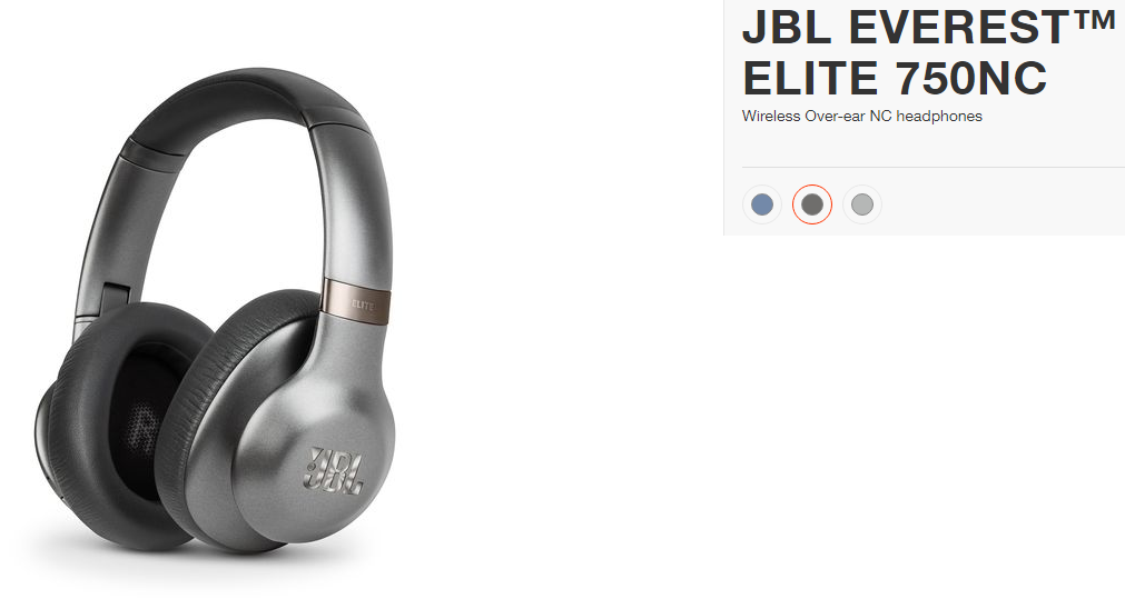 72ec797dbc1 JBL Everest Elite 750NC Over-Ear Wireless Headphones Active Noise  Cancellation Built in Microphone