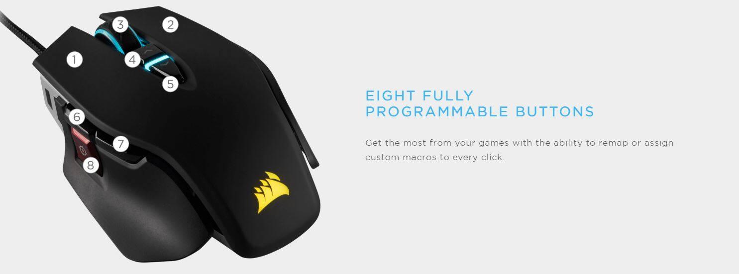 CORSAIR M65 RGB ELITE Tunable FPS Gaming Mouse - White (CH-9309111-AP)