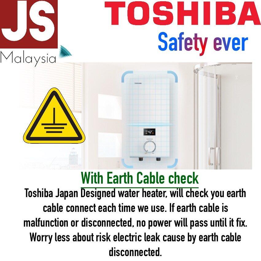 Toshiba Dual Heating Element Water Heater DSK38S5MW [5 Years Heater  Warranty]