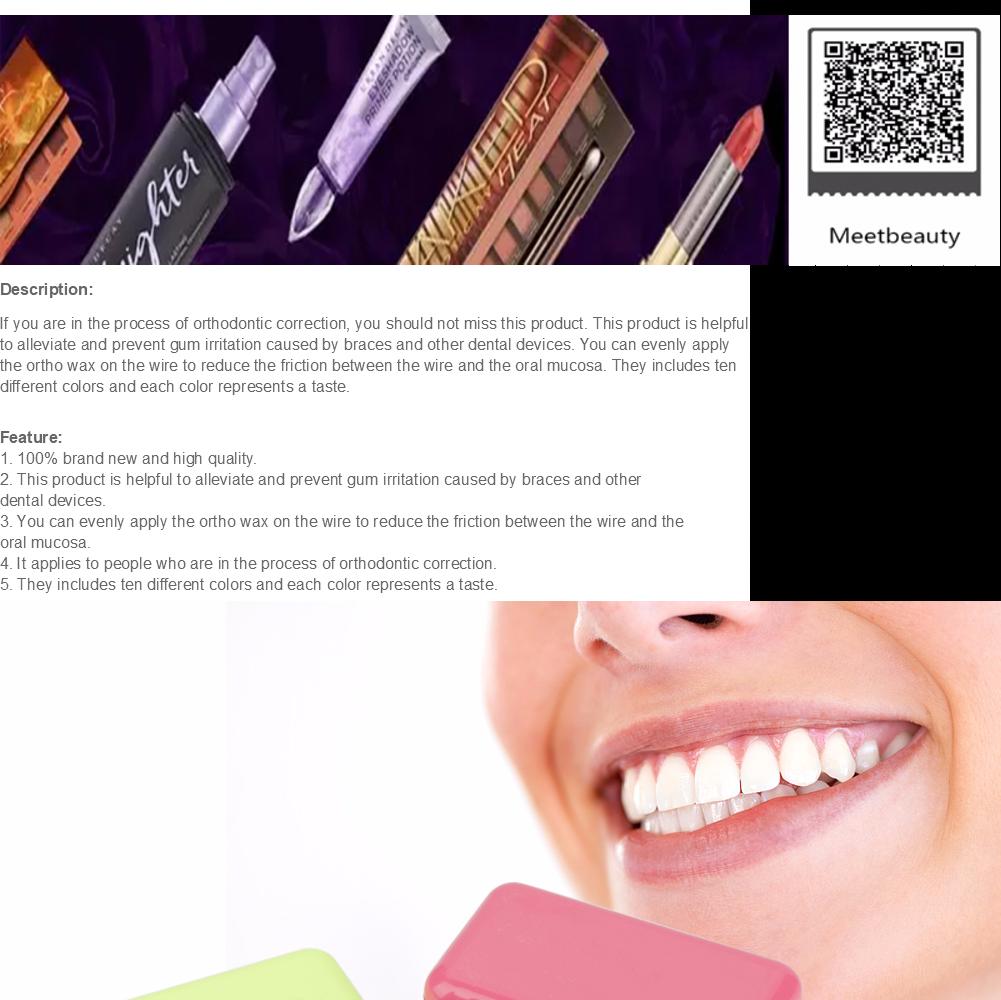 50 pcs Dental Flavoured Relief Ortho Brace Fruit Scent Gum Irritation Set