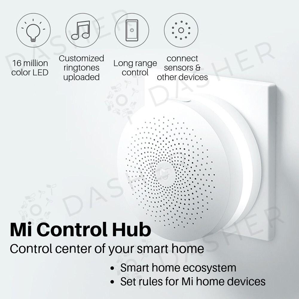(English Version) XiaoMi Mi Smart Security Sensor Set - Smart Home Gateway  6 in 1 Set Alarm (Malaysia Plug)