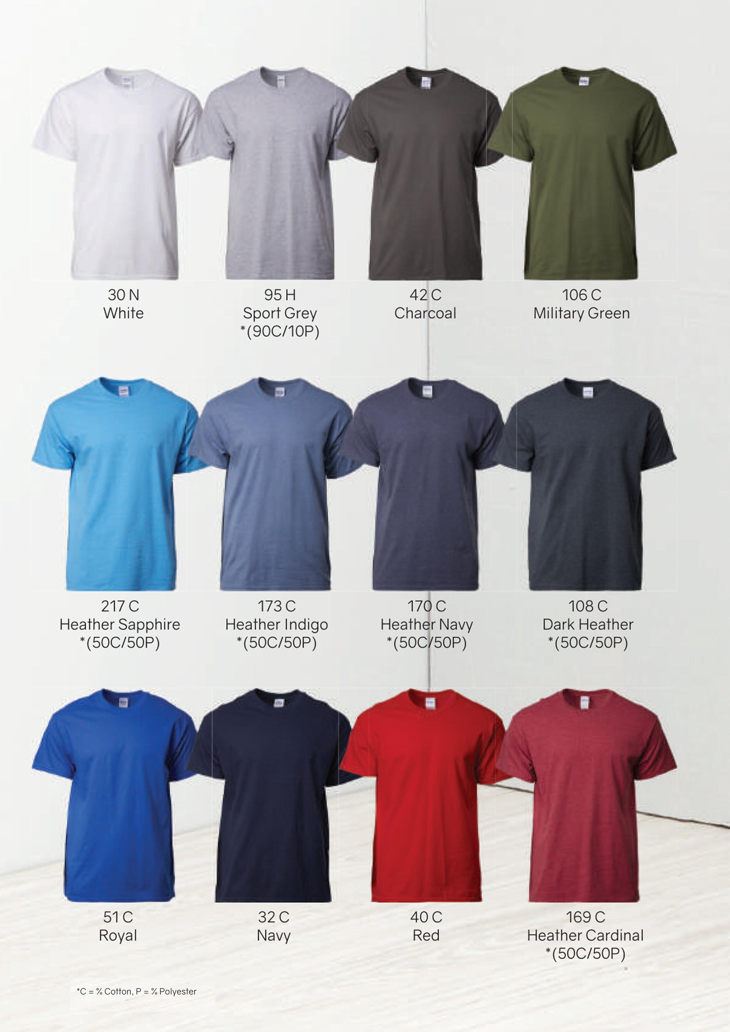 Gildan Mens Womens Ultra Cotton Plain Rounded Neck T-Shirt 100/% Cotton