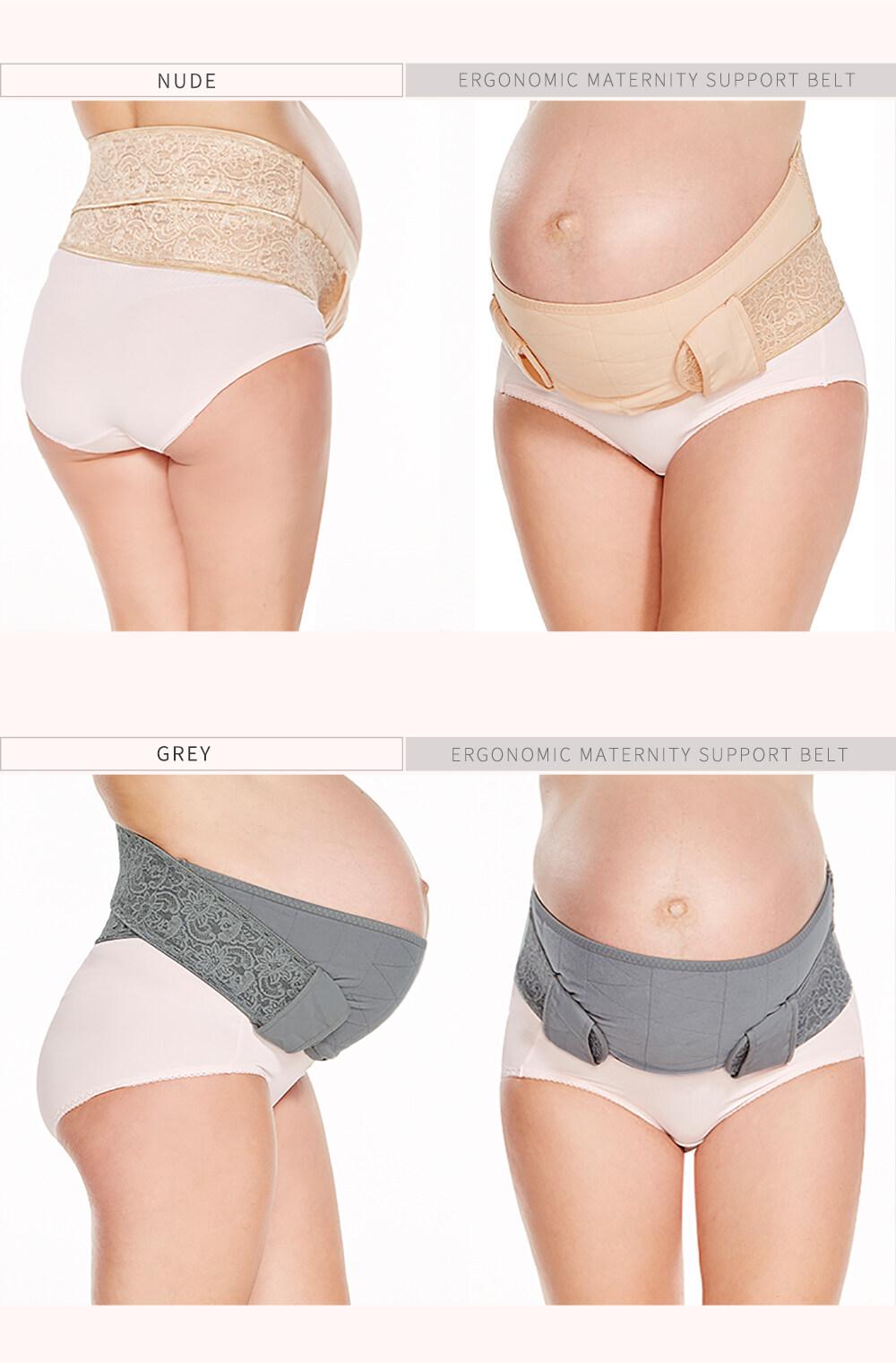 Mamaway Bundle 2pcs Ergonomic Maternity Support Belt Waist Back Spain Relief (Beige+Grey)