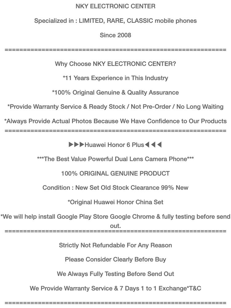 Huawei Honor 6 Plus (3GB+32GB/16GB) (Dual Camera) (5 5