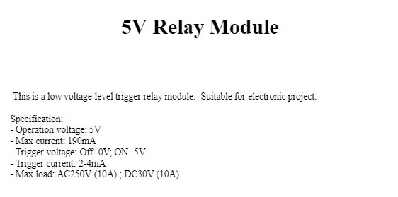 5V Relay Module 1 channel 2 channel 4 channel 8 channel / Low power trigger  / Suitable for Arduino